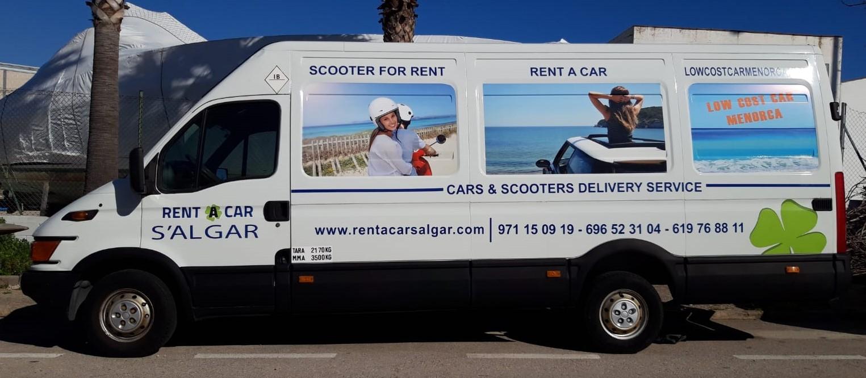 Alquiler furgoneta Menorca